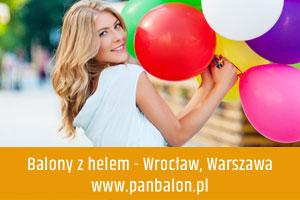Balony z helem Wrocław, Warszawa