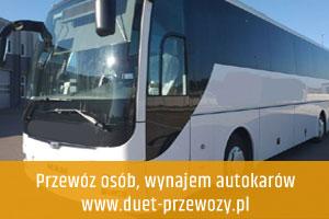 Wynajem autokarów, przewóz osób Wrocław